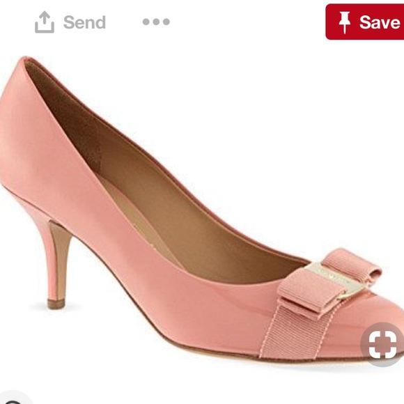 6b84d37a4a6 Salvatore ferragamo Carla heels in blush size 7.5B